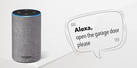 Hello Alexa! Open the garage door, please.