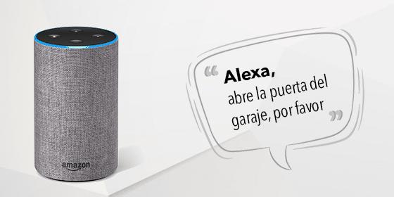 ¡Hola Alexa! Abre la puerta del garaje, por favor.