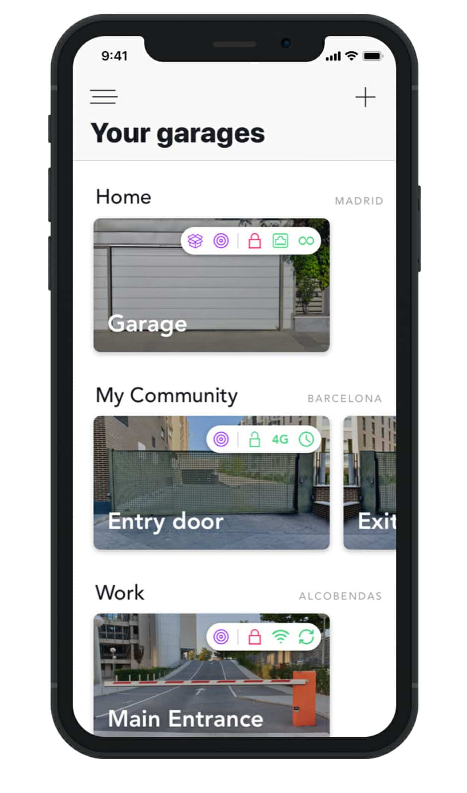 Open your garage with your mobile phone