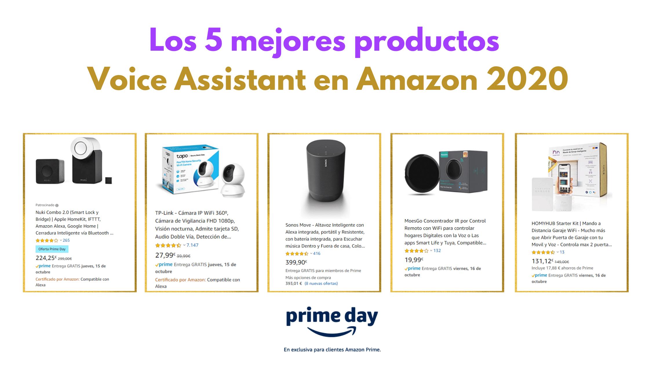 Los 5 mejores productos Voice Assistant en Amazon 2020