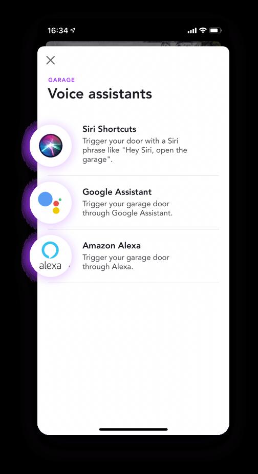 App open garage door virtual assistants voice siri google alexa