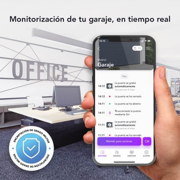 HOMYHUB Monitoriza Video Garaje Tiempo Real